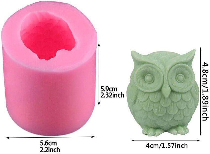 AMITD Couleur al/éatoire Moule /à bougie en silicone Outils Accessoire Pour bricolage Bricolage artisanal