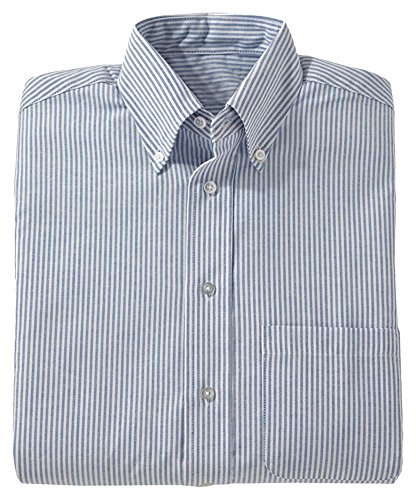 Edwards Short Sleeve Oxfords (Edwards Men's Short Sleeve Oxford Shirt, BLUE STRIPE, 2XLarge)