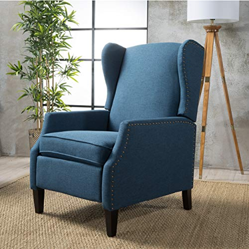 Christopher Knight Home 300601 Weyland Recliner, Navy Blue