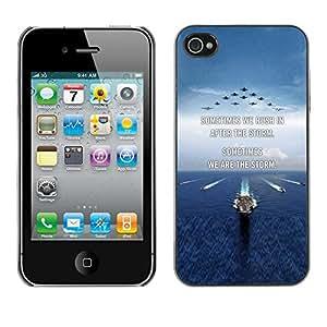 Caucho caso de Shell duro de la cubierta de accesorios de protección BY RAYDREAMMM - Apple iPhone 4 / 4S - You Moon Text Sunset Beach Ocean
