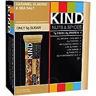 KIND Bars, Caramel Almond and Sea Salt, Gluten Free, 1.4 Ounce Bars, 12 Count