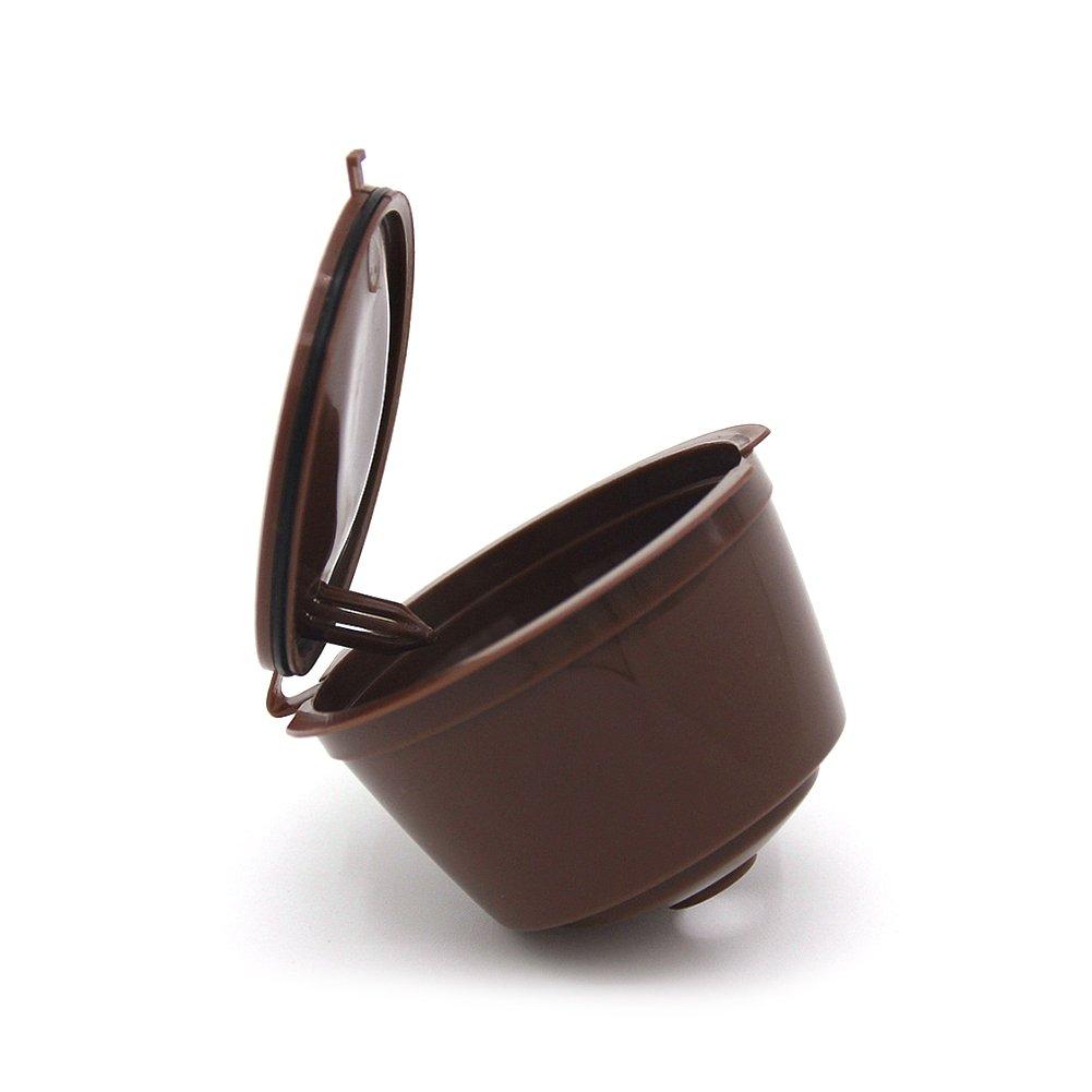 Adaptador de cápsulas recargable para máquinas de café Nestlé Dolce Gusto (soporte de cápsulas, buena alternativa, reutilizable) marrón: Amazon.es: Hogar