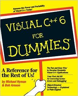 Visual C++ 6 For Dummies Books Pdf File