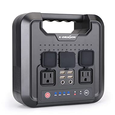 220WH/60000mAh Portable Generator Power Station Inverter X-DRAGON Rechargeable CPAP Battery Pack Emergency Power Supply for Outdoor Camping Home Charged by Solar Panel Wall Outlet Car with 110V AC Out