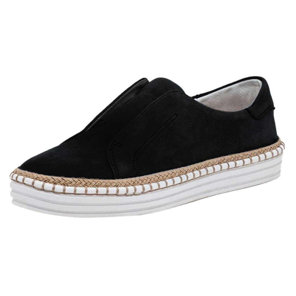 Shusuen Womens Slip on Fashion Sneakers Leopard Print Canvas Loafer Shoes Sneaker Black