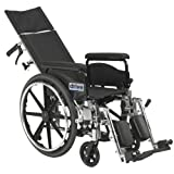 "Viper Plus GT Full Reclining Wheelchair, Detachable Full Arms, 18"" Seat"