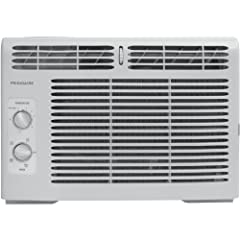 Frigidaire's FFRA0511Q1 5, 000 BTU 115V window-mounted mini-compact air conditioner is perfect for cooling a room up to 150 square feet. It quickly cools a room on hot days and quiet operation keeps you cool without keeping you awake. This un...