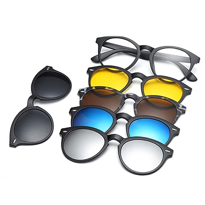 8a38abdab7 Embryform Gafas de sol con clip,MagClip Montura de Gafas con Clip de Sol  Polarizado Magnético(5 Clip+1 Marco): Amazon.es: Ropa y accesorios