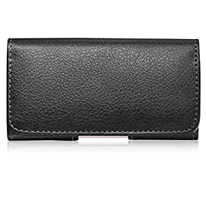 Horizontal Pebbled Leather Pouch Case for Samsung Epic 4G (Black)