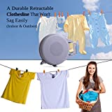 Drynatural Retractable Clothesline Indoor Outdoor