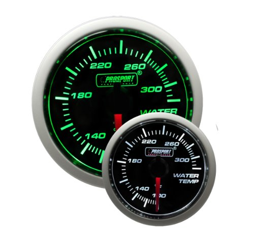 """Water Temperature Gauge- Electrical Green/white Performance Series 52mm (2 1/16"""")"""