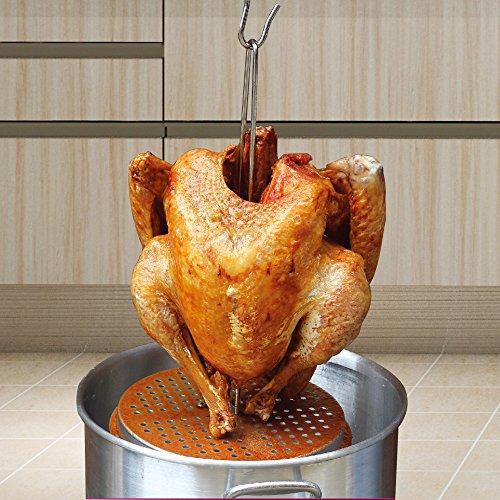 JIAYE Vertical Turkey Rack Set with Roaster