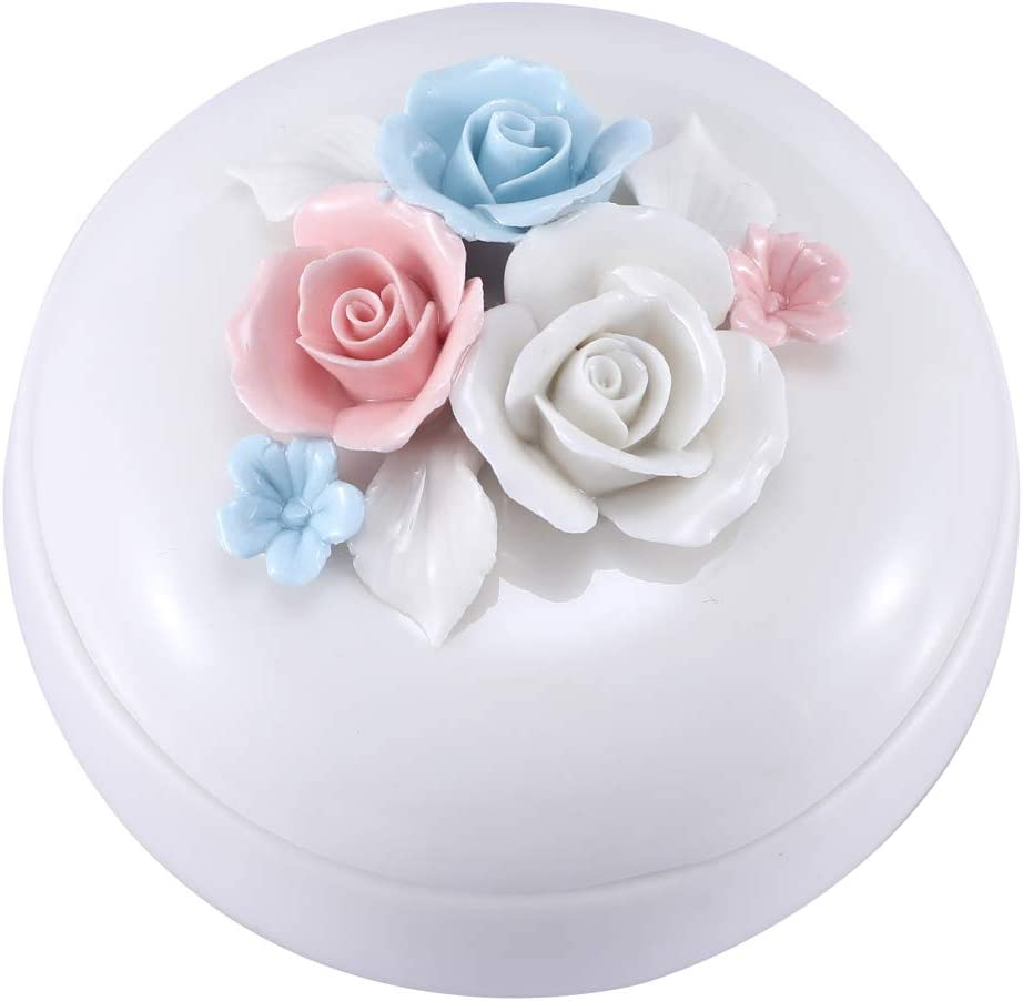 Mom Birthday Gifts Personalized Gifts for Mom from Daughte/Son, Ceramic Jewelry Box Ring Dish Decorative Trinket Box Home Decor, Thanksgiving Gifts Mom Gifts for Christmas (Jewelry Box (Round))
