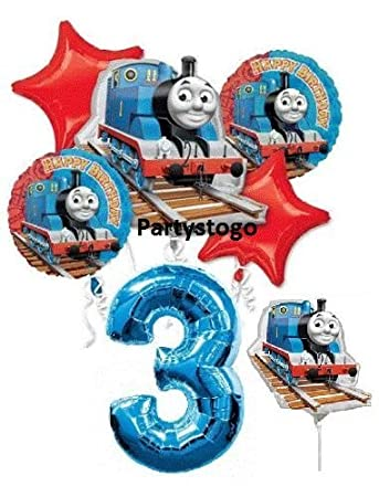 QuotTHOMAS THE TANK 3RD BIRTHDAY BALLOONS WITH 14quotquot MINI SHAPE