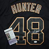 Torii Hunter Detroit Tigers Autographed Black #48 Jersey JSA COA