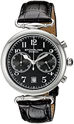 Stuhrling Original Men's 226.02 Champion Velocity Date Chronograph with Black Leather Strap Watch