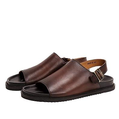 nuova alta qualità raccolto pensieri su Sandali Esterni Pantofole Scarpe da Spiaggia in Pelle scivolosa ...