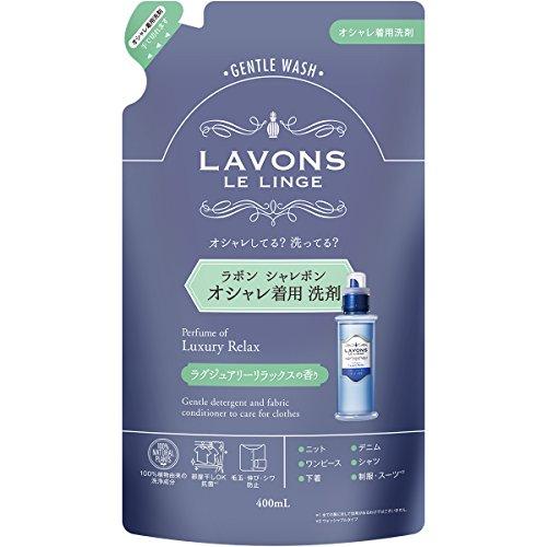 라본 (Lavons) 샤레본 멋쟁이옷 세제 리필용 럭셔리 릴랙스 400ml