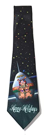 Stonehouse Collection Men's Airplane Christmas Tie - Funny Airline ...