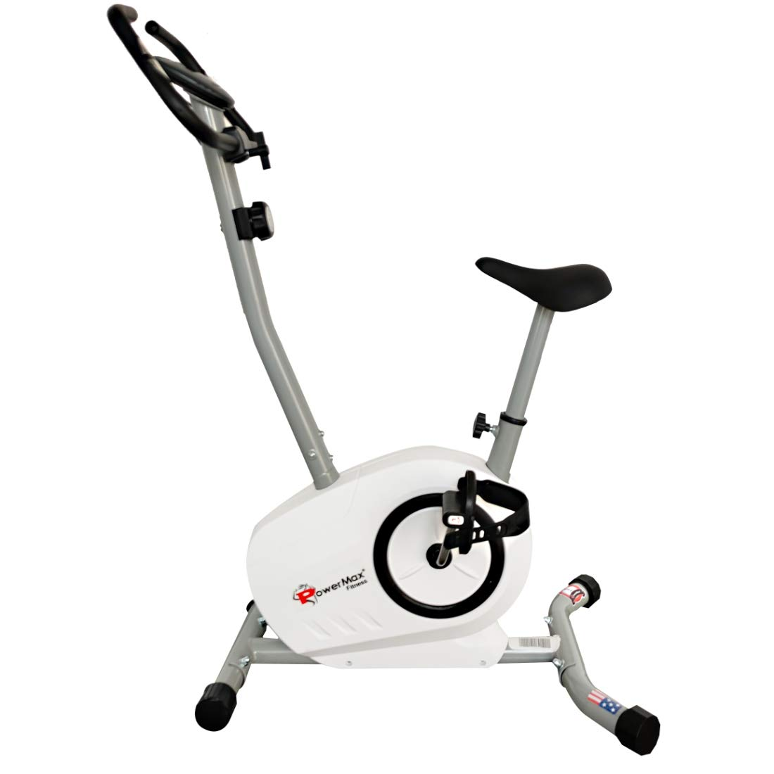 PowerMax Fitness BU-515-AL502 Steel Exercise Upright Bike