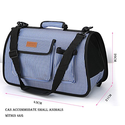 LOVEPET Dog Backpacks Pet Bag Multi-Function Folding Cat Bag Dog Bag Breathable Portable Travel Light Blue Large Capacity 36.53528Cm,S