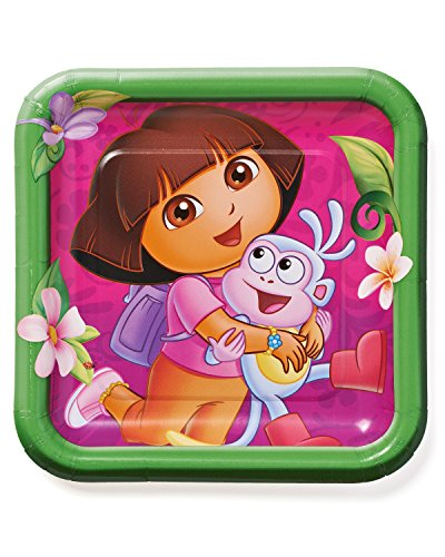 American Greetings Dora The Explorer Paper Dinner Plate, 8-Count
