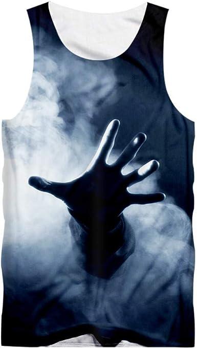 Camiseta sin Mangas de Humo Informal para Hombre Chaleco de ...