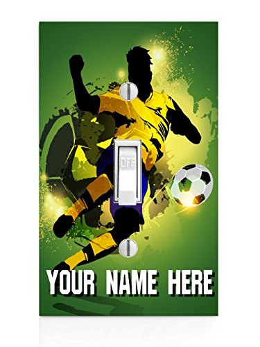 Personalized Soccer Printed Light Switch Cover