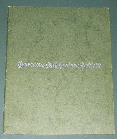 Photo Henredon`s 18th Century Portfolio (Henredon Furniture Company Catalogue)