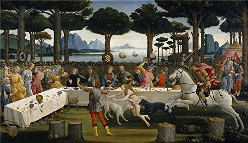 botticelli-sandro-the-story-of-nastagio-degli-onesti-ii-ca-1483-oil-painting-30-x-52-inch-76-x-132-c