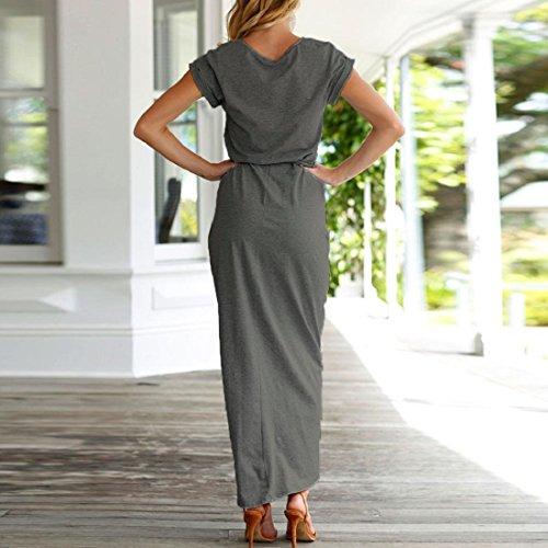 ... Damen Kleider PAOLIAN Frauen Lange Maxikleid Sommerkleid Boho Elegant  Abend Party Strandkleider Cocktailkleid Beiläufig Partykleid Übergröße ... b2fe71c862