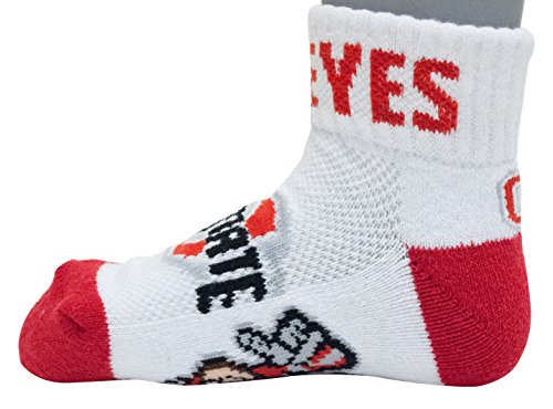 (Donegal Bay NCAA Ohio State Buckeyes Youth QTR Socks, Scarlet, 3-5 Years)