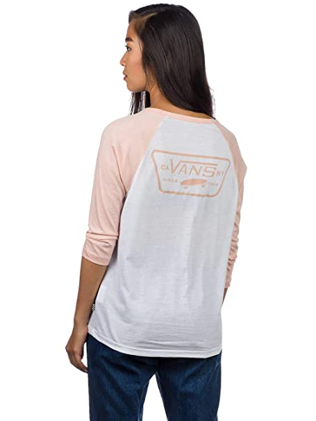 aa23749b7a Vans Women s Full Patch Raglan T-Shirt  Amazon.co.uk  Clothing