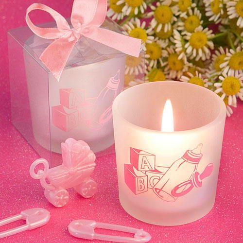 Fashioncraft Favor Saver Collection Baby Girl Themed Tea Light Candle -