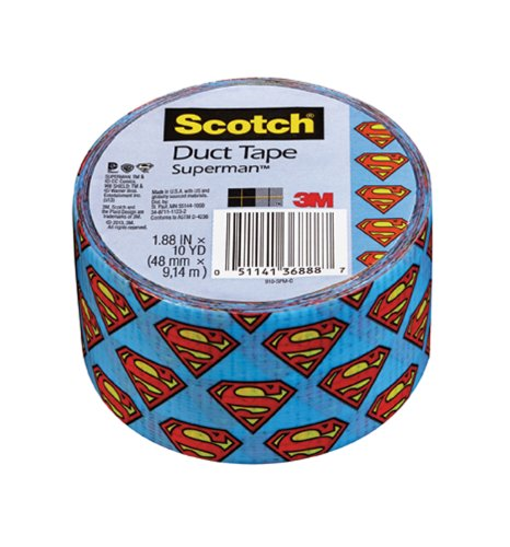 Scotch Duct Tape, Superman, 1.88-Inch by 10-Yard