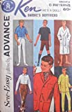 Barbie KEN Sew Easy Fashions PATTERNS by ADVANCE - Group E (1962 Mattel Toymakers)
