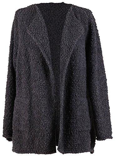 Alpaga Laine Femmes Nouveau Tailles Charbon Blazer Vierge Plus Boucle Dames Italien Mix Cardigan qFBnwgR
