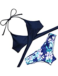 Womens Padded Push-up Bikini Set Bathing Suits Two Pieces...