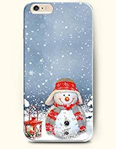 iPhone 6 Plus Case 5.5 Inches Handed Lamp and Smiling Snowman