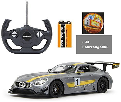 BUSDUGA - RC Mercedes-Benz AMG GT3 ferngesteuert - wählbar.: Farbe , Maßstab und Funktion - RTR ready-to-run - inkl. 9V Batterie und AKKU - (GT3 1:14 inkl. Akku)