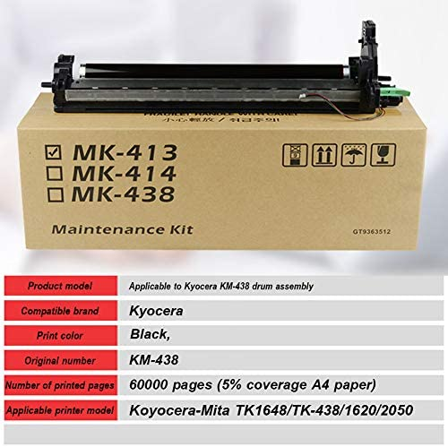 Suitable for Koyocera-mita Tk1648//tk-438//1620//2050 Copiers 60000 Pages Large Capacity Km-438 Drum Kit is Compatible with Kyocera
