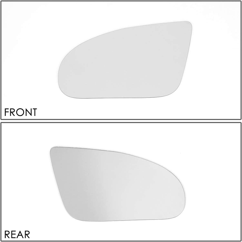 DNA Motoring SMP-038-L Left//Driver Side Door Rear View Mirror Glass Lens