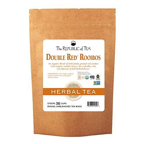 The Republic Of Tea Organic Double Red Rooibos Tea, 36 Tea Bag Refill