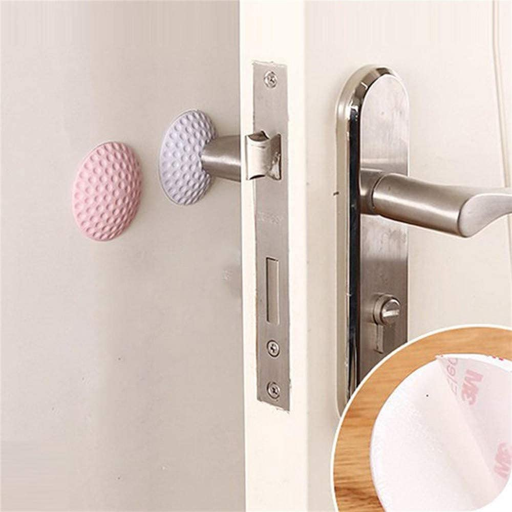 Shotbow Rubber Home Door Doorknob Back Door Stopper 2Pcs Wall Protector Savior Crash Pad White Self Adhesive Door Handle Bumper Guard Stopper Rubber Stop Silencer for Protecting Wall