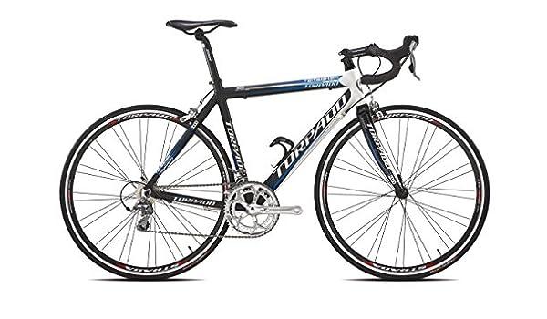 Torpado Temeraria, Bicicleta de Carreras, de Aluminio y Carbono, 10.Velocidades, Talla 51, Negro y Blanco (Carrera de Carretera): Amazon.es: Deportes y aire libre