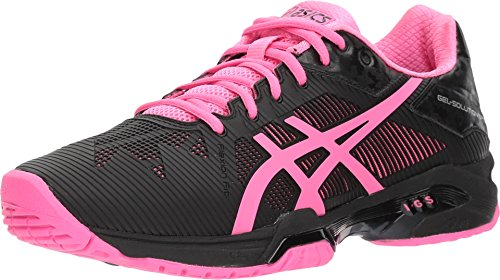 ASICS Womens Gel-Solution Speed 3 Sneaker, Black/Hot Pink/Silver, Size 8.5 ()