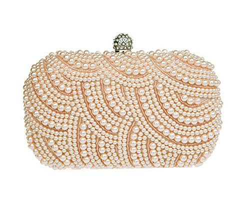 Elegant Bag Gorgeous Pearl b Clutch Handmade Lady Shoulder Pink Ztqxqr5