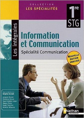 Livres gratuits Information et Communication 1e STG spécialité communication pdf