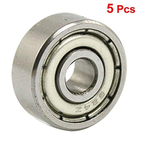 Metal Shielded Bearing - uxcell 624Z 4 x 13 x 5mm Metal Shielded Deep Groove Ball Bearings 5 Pcs