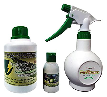 Perfarmers Neem Oil 500ml With Spray Bottle For Gardening